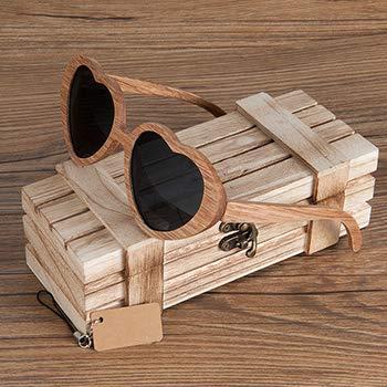 SLONGK New Luxury Schwarz Holz Runde Sonnenbrille Polarisierte Sonnenbrille für Männer Und Frauen Mit Spiegel Len