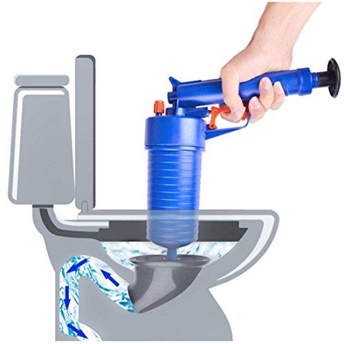 WC-Plunger, Luft-Entwässerungs-Blaster, Druckpumpe-Reiniger, Hochdruckleistungsfähige Manuelle Wanne Kolben-Öffner-Reiniger-Pumpe Für Bad-Toiletten, Badezimmer, Dusche, Küche Verstopfte Rohr-Badewanne (Pistolengriff-pumpe)