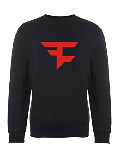 Inspiriertes Faze Clan Logo Sweatshirt Call of Duty Game Advanced Warfare Black ops Ghosts Schwarzer Pullover ( Small)
