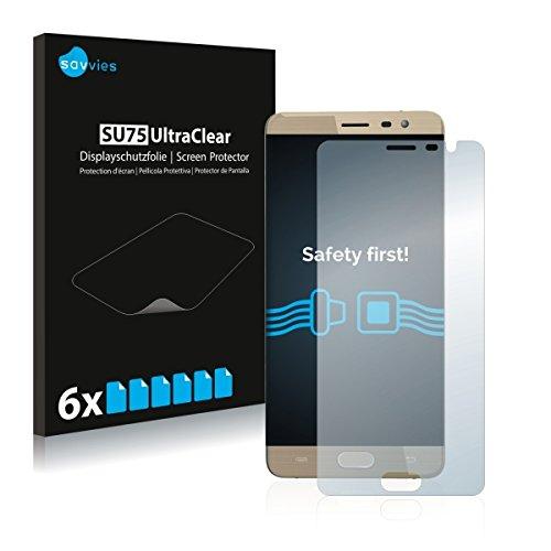 6x Savvies SU75 UltraClear Displayschutz Schutzfolie für Cubot Cheetah 2 (ultraklar, einfach anzubringen)