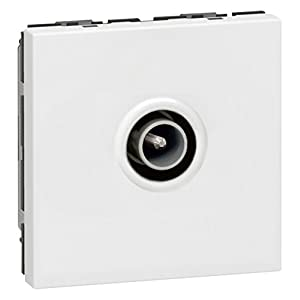 Legrand Mosaic 078782 TV Socket 9.52 mm 2 Modules White