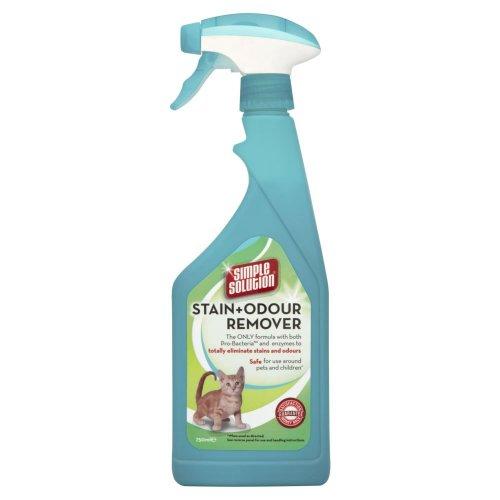 simple solution Flecken- und Geruchsentferner, gegen von Katzen verursachte Flecken und Gerüche, 750ml