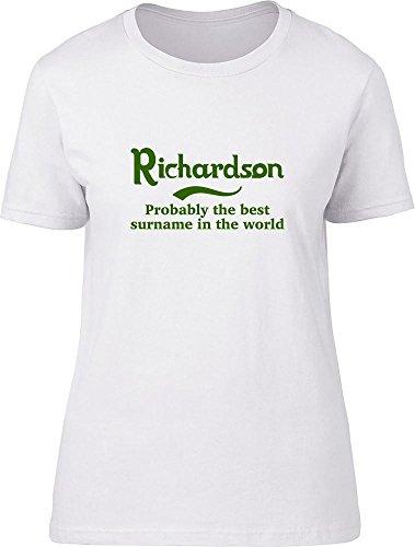 Slogan Clothing Company Richardson Wahrscheinlich Die Besten Familienname in der Welt Damen T Shirt Gr. L 30 cm/36 cm, Weiß - Richardson 30