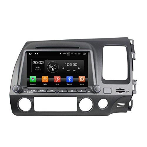 8 Zoll Kapazitiver Touchscreen Doppel Din Android 8.0 OS Autoradio für Honda Civic 2006-2012 RHD, 8 Core 1.5G Cortex A53 CPU 32G Flash und 4G DDR3 RAM GPS Navigation Radio DVD Player 3G/WiFi OBD2 (Oem-dvd-civic 2010)