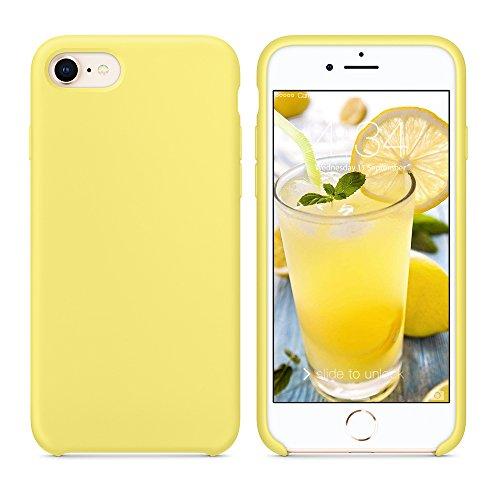 SURPHY iPhone 8 Hülle, iPhone 7 Hülle, Silikon schutzschale vor Stürzen und Stößen Silikon Handyhülle für iPhone 7 iPhone 8 Schutzhülle 4,7 Zoll, Gelb