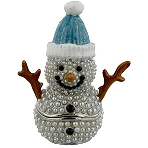 Juliana Treasured Trinket Baby Boy azul muñeco de nieve–xm2002