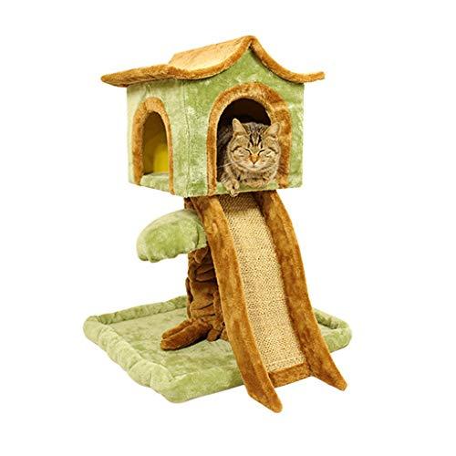 Pet Cuisine Albero Tiragraffi, Mobilia condominio della Torre dell'albero di Gatto/con i tiragraffi for i Gattini Gioco della casa di Animale Domestico/Altezza 75cm