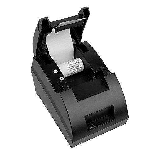 USB Mini 58mm POS Hot Spot Beleg Drucker Kit POS-5890C Amerikanischer Stecker, 90mm/s, Thermodrucker, Kompatibel mit ESC/POS, Größe: 175 * 130 * 110mm (Länge * Breite * Höhe). (Desktop-thermodrucker)