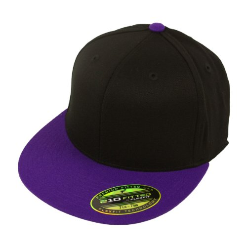 Flexfit Kappe 210 Premium Fitted Cap black purple - L/XL (Cap 210 Flex Fit)