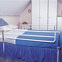 Homecraft Barrières de lit réglables, doubles, pour deux côtés, pour la sécurité et la prévention des chutes, pour enfants, personnes âgées et personnes handicapées, barrières de sécurité