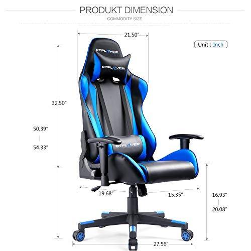 GTPLAYER Gaming Stuhl Racing Stuhl Bild 6*