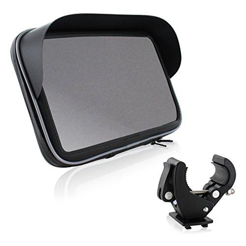 Motorrad Fahrrad Bike Set Halterung Tasche mit Sonnendach 6' für Tablet Phablet Navi Geräte bis max. 190 x 120 mm