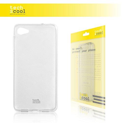 TechCool Alcatel A5 LED Hülle, SchutzHülle Premium Soft Flex TPU Silikon Transparent für Alcatel A5 LED l Case, Cover, Handy [Ultra Dünn 1,5mm] [Kratzfest] (Klar)
