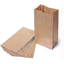 El Joven® marrón bolsas de regalo de papel de Kraft marrón bolsas de papel, Large 10