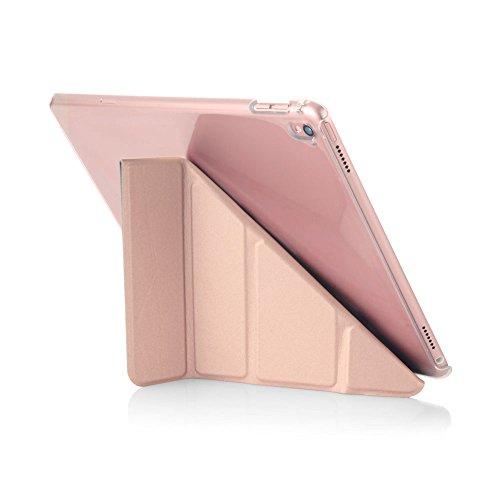 Pipetto P030-63C-3W 5 in 1 Faltende Zurück Schutzhülle für Apple iPad Pro, 24,63 cm (9,7 Zoll) Rosegold und Klar