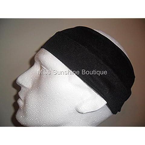 Amora - Cinta elástica para la cabeza, color negro negro negro