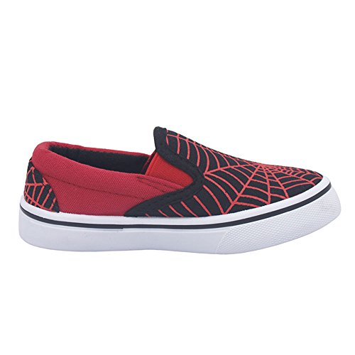 Schuhe für Jungen zur Schule und Kindergarten Anti-Rutsch Sohle (11066) Rot