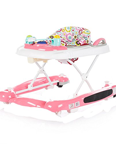 Chipolino 3 in 1 Baby Walker, Pink, Lilly Chipolino The fabric on the base easily detached and you can use it as a baby walker May be used as a cradle - base transforms into rocker Colourful tray with toys and musical panel to entertain the baby, the tray toy can also be detached and used separately 1