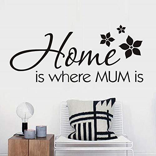 Zuhause ist, wo mama ist wandaufkleber dekoration für kinderzimmer blumen kunst muster abnehmbare pvc wandtattoos diy poster a2 59 * 25 cm