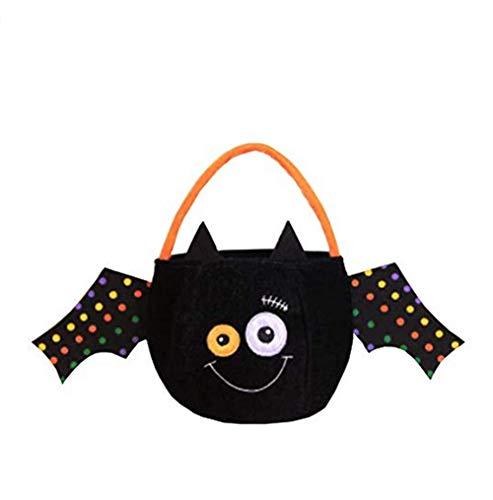 hfukcdz Halloween Süßigkeiten Handtaschen Tote Kürbis Fledermaus Kostüm Anzug Kinder Geschenke Dekoration für Kostüm Party - Neueste Kostüme Kinder