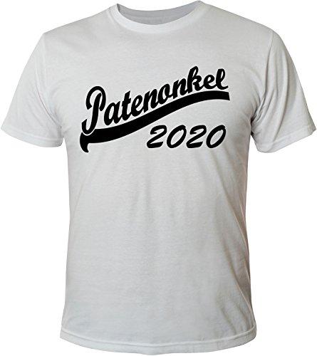 Mister Merchandise Herren Men T-Shirt Patenonkel 2020 Tee Shirt bedruckt Weiß