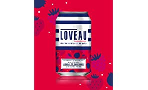 LOVEAU Raspberry, Strawberry and Blueberry Flavour. 24 x 330ml Can Case