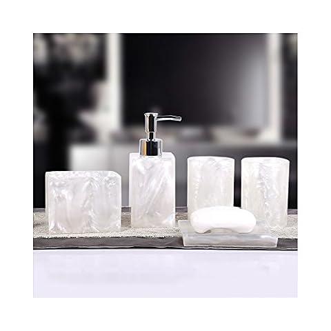 Yvonnelee Badezimmerset Serie Bad Accessoire Set WC Set Lotion-Flaschen Seifenschale