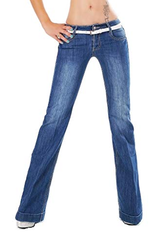 e129b731174a3 Cindy H Jeans - Jeans - Evasé - Femme Bleu Noir foncé - Bleu - Taille