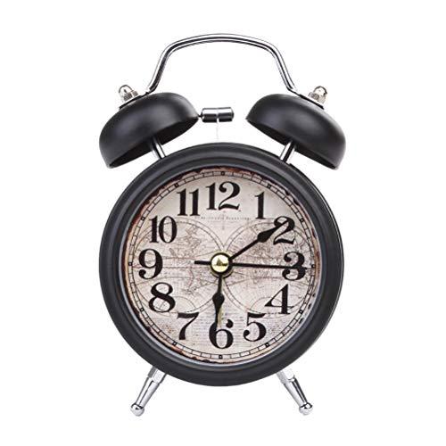 Suszian Despertador Retro, Despertador de Cuarzo analógico Retro, Despertador Retro Twin Bell Escritorio...