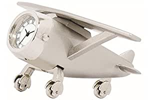 Cool Metal Vintage Aircraft Desk Clock Stand –Gifting Idea for Home, Office or Personal Use