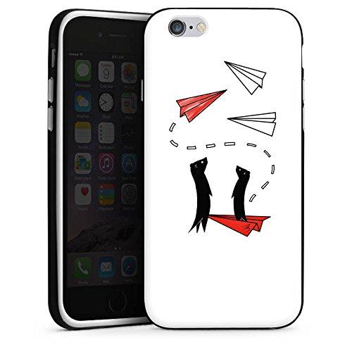 Apple iPhone X Silikon Hülle Case Schutzhülle Erdmännchen Tiere Comic Silikon Case schwarz / weiß