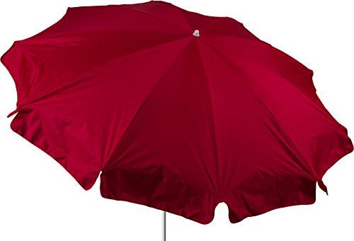 beo Parasol Rond étanche, Rouge Diamètre 240 cm