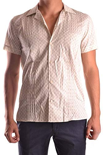 Marc Jacobs Herren Mcbi10607 Beige Baumwolle Hemd