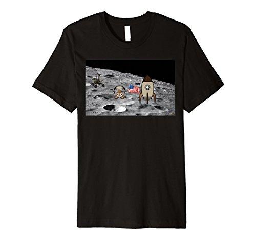 Poop Emoji-T Shirt Platz Mondlandung Poop Emoji-Shirt -