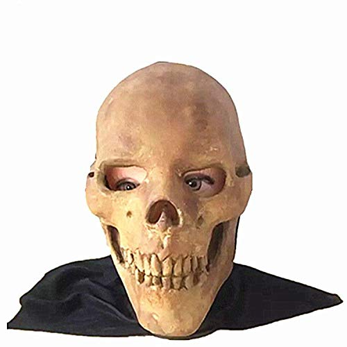 Latex Maske Halloween,Neuheit Horror Skull Zombie Latex Maske Haunted House Scary Requisiten, Unisex-Adult Maske Halloween Karneval Party Horror Kostüm - A Doll's House Spielen Kostüm