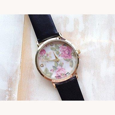 Vintage Blumen-Uhren für Frauen, Frauen Uhren, Frauen Uhren retro, vintage Damenuhren, Geschenke für sie, Geburtstagsgeschenk ( Farbe : Rosa , Großauswahl : Für Damen-Einheitsgröße ) - 2