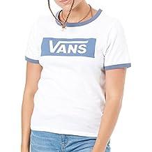 Vans Camiseta Mujer Ring Tangle Blanco-Vintage Indigo