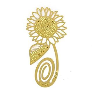 Kcopo Lesezeichen Kreativ Lesezeichen Sonnenblumen Lesezeichen Metall Clip Hohl Buchzeichen Marker Lesung Zugunsten Scherzt Geschenk Gold