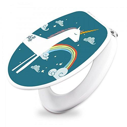 banjado-Design-Toilettendeckel-WC-Sitz-Brille-36m-x-5cm-x-45cm-mit-Motiv-Einhorn-ToilettendeckelWei
