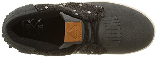 WAU - Boho, Sneaker Donna Grigio (Gris (Black))