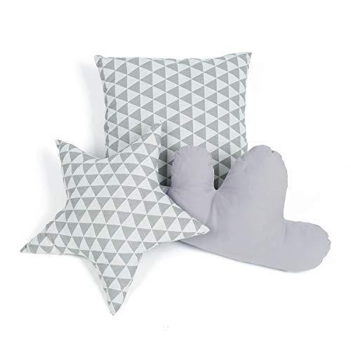Gigalumi cuscino per tenda teepee grigio cuscino decorativo a forma di stella nuvola e quadrato per cameretta