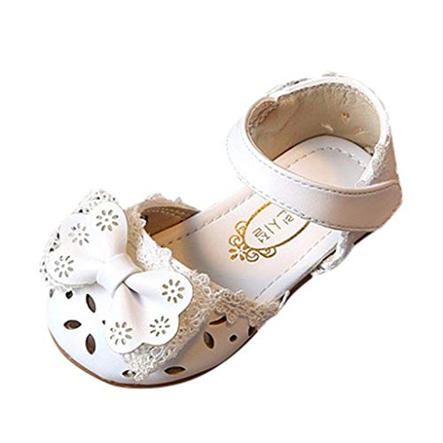 Baby Mädchen Weiche Sohle Sandalen rutschfeste Kleid Hochzeit Krippe Schuhe,OSYARD 0-6 Jahre Kinderschuhe Halbsandalen mit Riemchen (Einheit Soldat Kostüm)