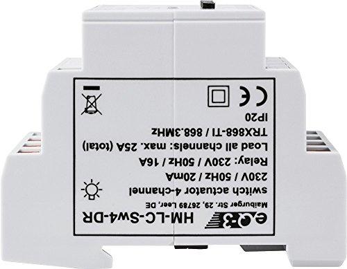 EQ3 91836 HomeMatic Funk-Schaltaktor 4-fach, Hutschienenmontage - 5