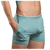 pujingge Men Pajama Pants PJ Bottoms for Sleeping and Lounge Wear Light Blue M