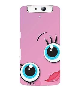 printtech Big Eyes Quite Girl Back Case Cover for Oppo N1