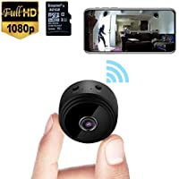 MINI Spy Camera, 1080P HD 32G Wireless Home Security Surveillance Cameras with Night Vision, Motion Detection, Wifi Hidden Camera Comes with a 32G SD card for Tiny Nanny cam