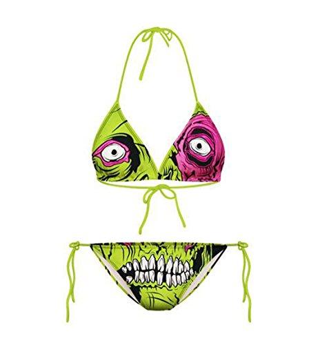 Lucky staryuan ® Prime Deals Frauen-Druck-Verband-Halter-Bikini-Set Bade Spa Bademode Anzug Grün
