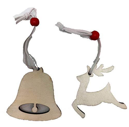 Twisted Anchor Trading Co Weihnachtsschmuck-Set, Holz, zum Bemalen von eigenen Weihnachten, unlackiert, 4 Stück je 12 Designs (Malen Holz-weihnachtsschmuck Zu)
