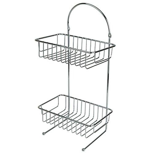 evelots-zwei-etagen-chrom-unter-spule-schublade-schrank-organizer-kuche-bad
