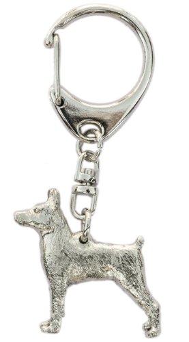 Zwergpinscher Hergestellt in U.K. Kunstvolle Hunde- Schlüsselanhänger Sammlung (Pinscher-hunderasse Miniatur)